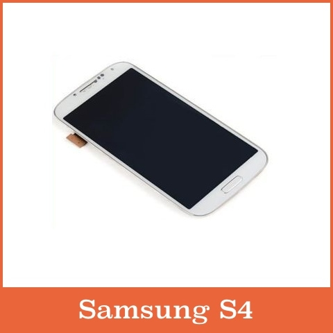 White LCD Touch Screen Digitizer + Frame for Samsung Galaxy S4 i9500