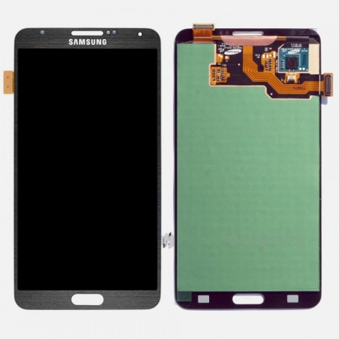 Gray LCD Screen Digitizer Assembly Replacement For Samsung Galaxy Note 3 N900V N900T
