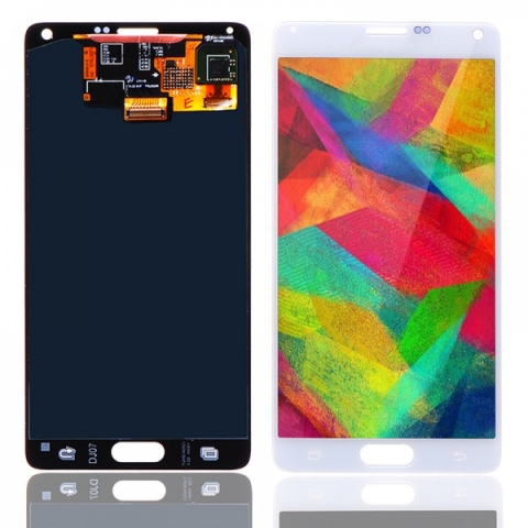 White LCD Screen Digitizer Assembly Replacement for Samsung Galaxy Note 4 N910