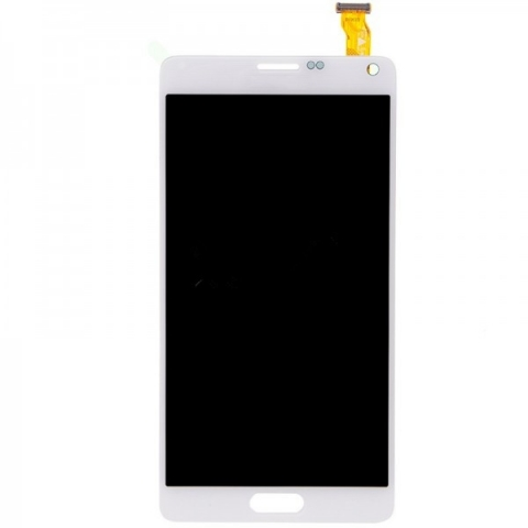 White LCD Screen Digitizer Assembly Replacement +stylus Flex for Samsung Galaxy Note 4 N910V N910P